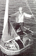 Hugo Vihlen on the 5 foot, 4 inch Father's Day after crossing the Atlantic